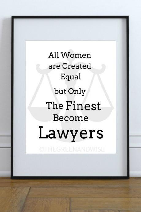 Women Lawyer Wall Art, Printable Digital Download