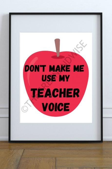 Teacher Wall Art, Printable Digital Download