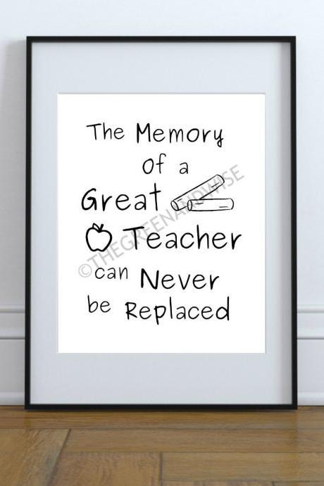 Teacher Gift Wall Art Printable Digital Download