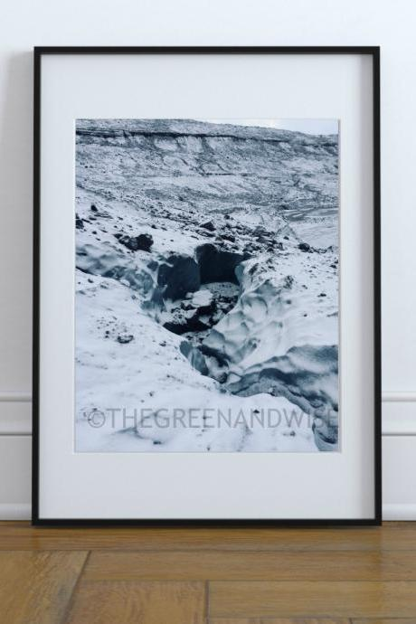 Ice Crater Winter Digital Photo Instant Download